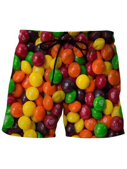 M&M Print Slim Men's Swim Shorts