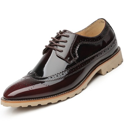Hollow Out Gradient Color Men's Dressy Shoes