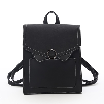 Casual Solid Color Women PU Backpack