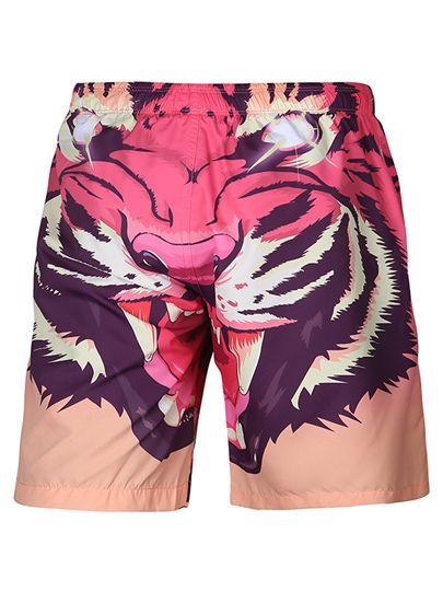 Tiger Print Loose Men's Swim Shorts