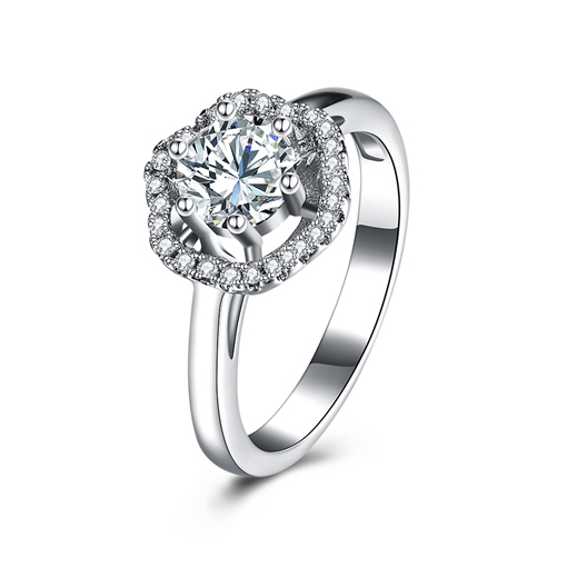 Six-Prong S925 Silver Ring