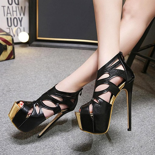 Platform High With Hollow Women's Sexy Pumps