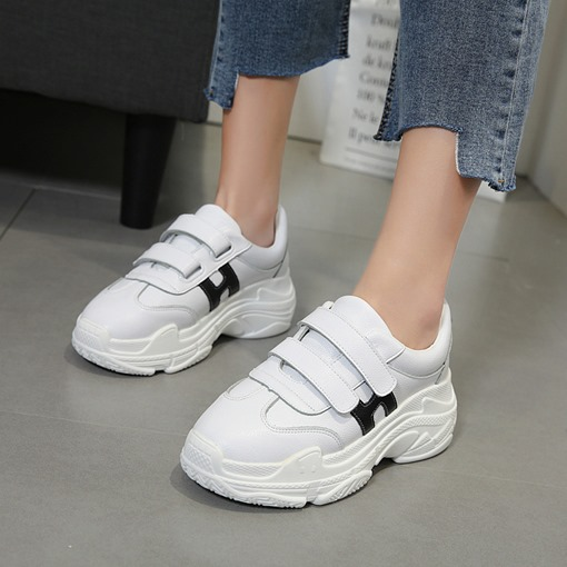 Platform Letter Velcro Women's Simple Sneakers