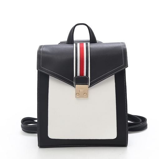 Preppy Chic Stripe Women Backpack