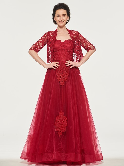 Strapless Lace Appliques Mother of the Bride Dress with Jacket