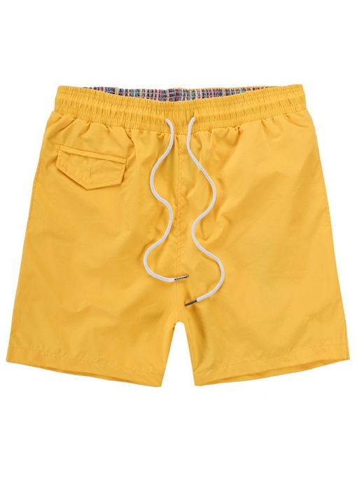 Solid Color Quick Dry Plain Slim Men's Swim Shorts