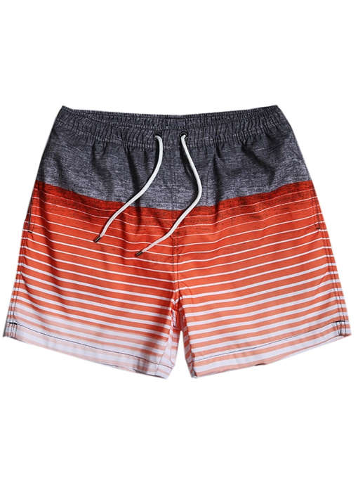 Waterproof Stripe Slim Men's Swim Shorts