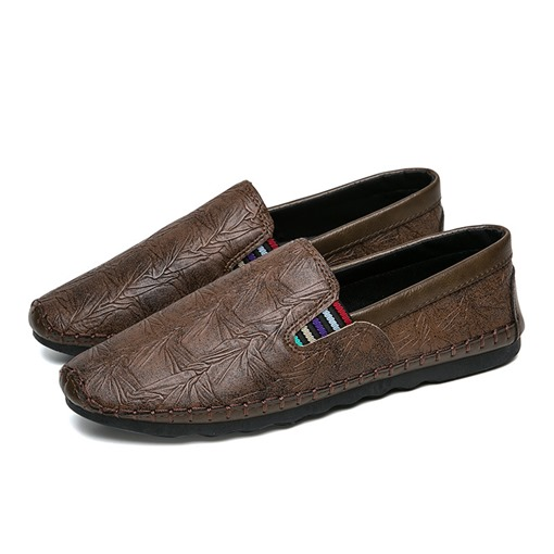 Pattern Sewing Driving Shoes Men's Loafers