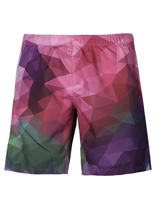 Geometric Patterns Quick Dry Men's Swim Shorts