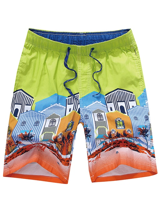 Cotton Thin Loose Men's Swim Shorts