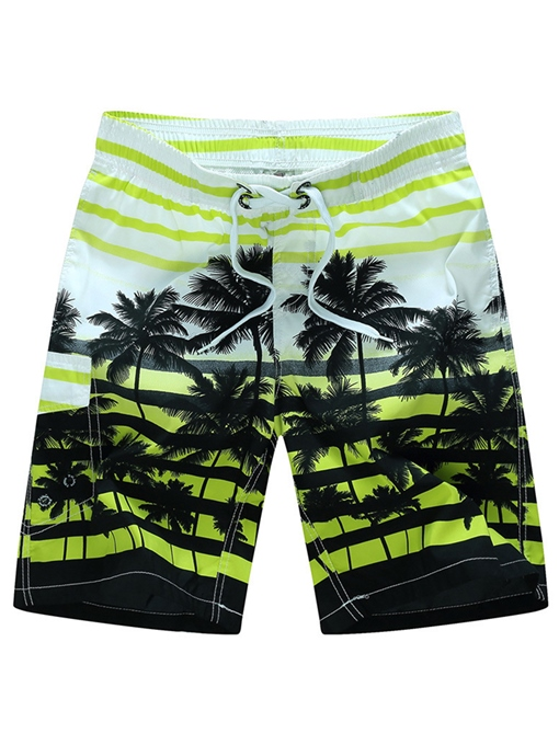 Loose Straight Beach Print Men's Leisure Shorts
