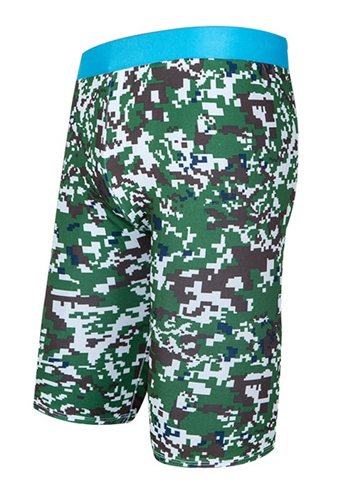 Camouflage Elastic Slim Racing Men's Swim Shorts