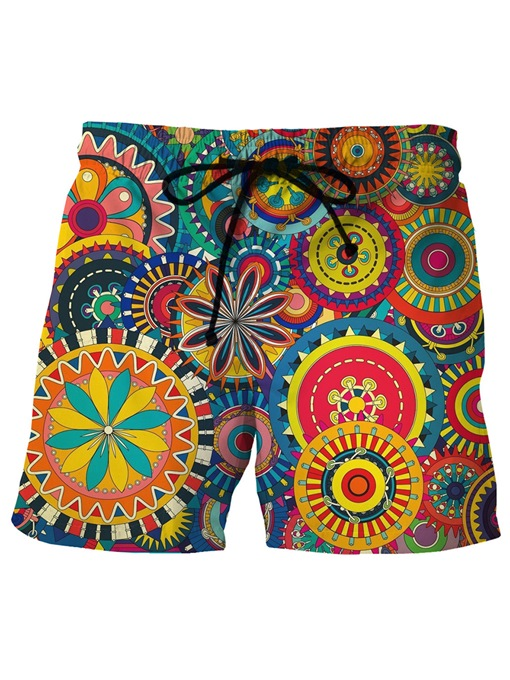 Ethnic Print Quick Dry Loose Men's Shorts