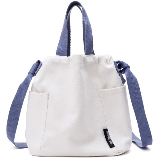 Casual Color Block Canvas Crossbody Bag