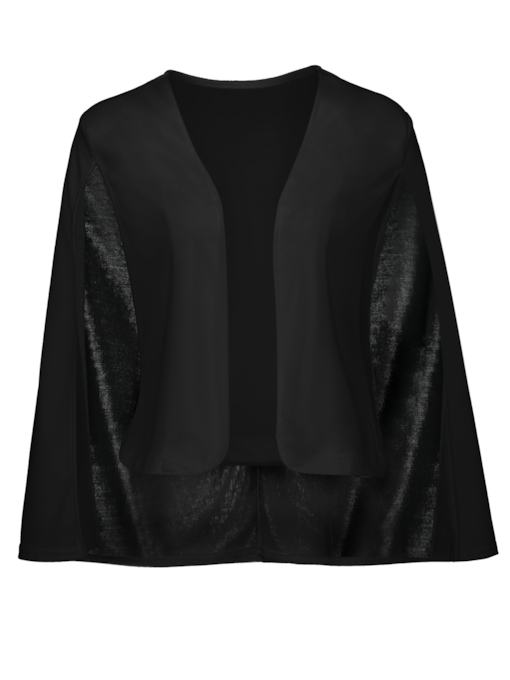 Short Slim Plain Women's Shawl Blazer