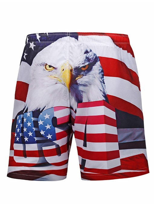 Eagle Print Quick Dry Men's Beach Shorts