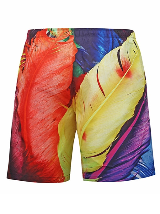 Quick Dry Print Loose Men's Swim Shorts