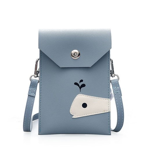 Simple Cartoon Pattern Plain Cross Body Bag