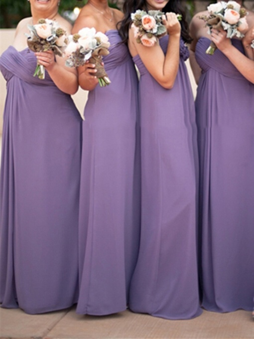 Sweetheart A-Line Pleats Chiffon Bridesmaid Dress