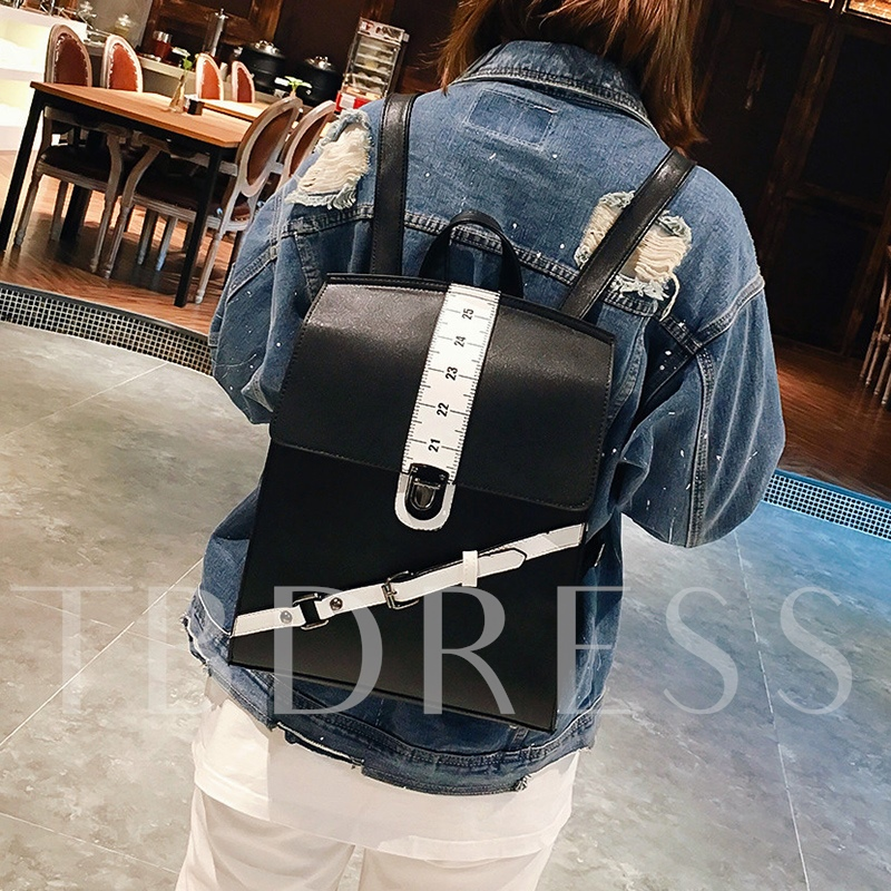 Personality Ruler Design Women Backpack