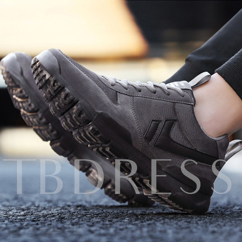 Contract Color Tie Up Men's Work Shoes Casual Sneakers