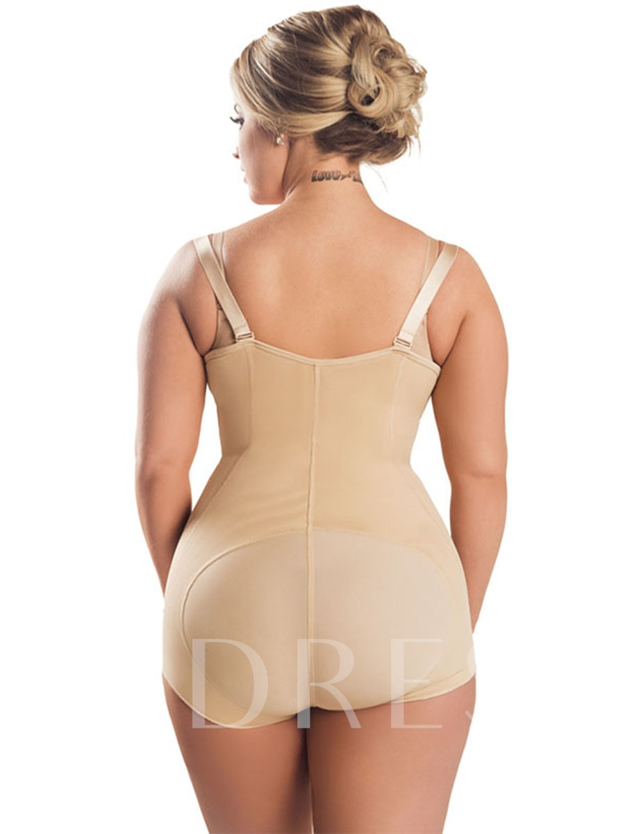 Zipper Boyshort Plus Size Teddy