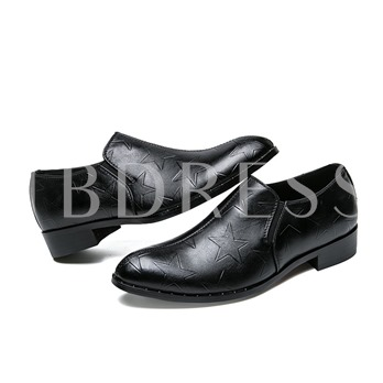 Star Pattern Block Heel Men's Professional Shoess