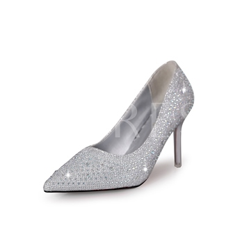 Full Rhinestone High Heel Shoes for Bridal