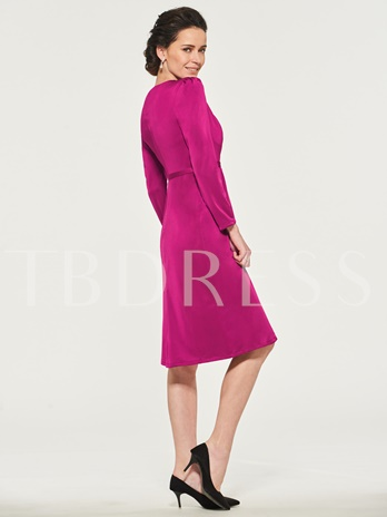 Long Sleeve Sheath Short Mother of the Bride Dress