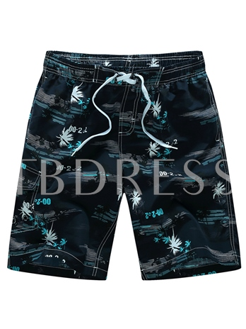 Quick Dry Print Loose Men's Beach Shorts