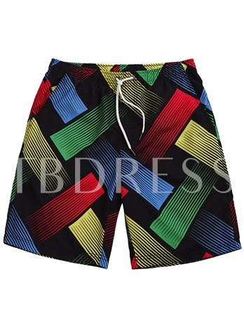 Color Block Quick Dry Slim Men's Swim Shorts