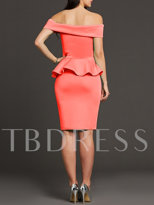 Double-Layered Appliques Women's Bodycon Dress