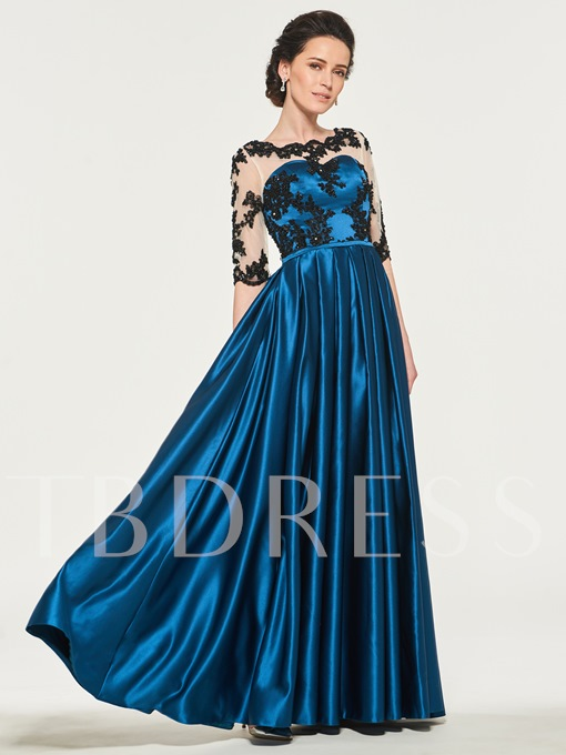 Beaded Appliques Mother of the Bride Dress with Sleeves