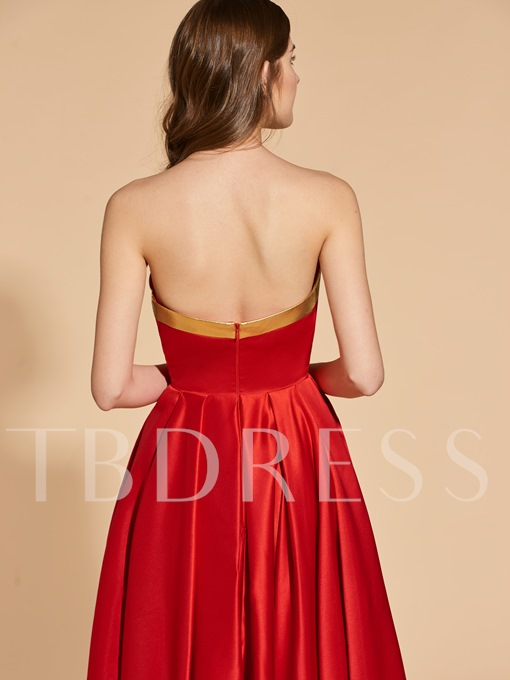 A-Line Ruched Sweetheart Prom Dress