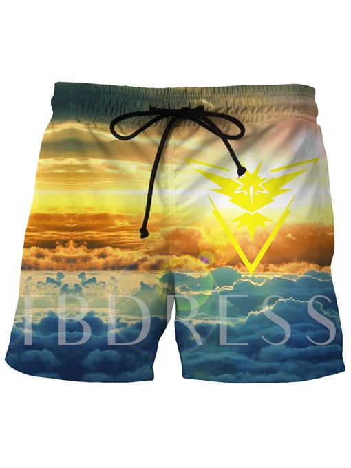Quick Dry Beach Style Loose Men's Swim Shorts