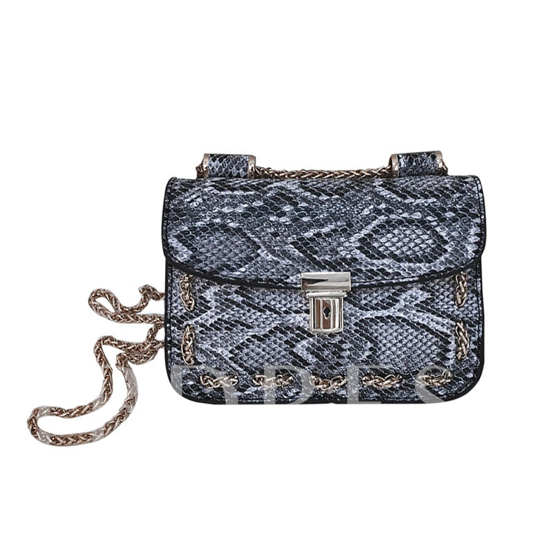 Personality Snakeskin Pattern Cross Body Bag