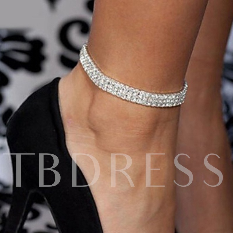Full Drill Luxurious Alloy Anklet