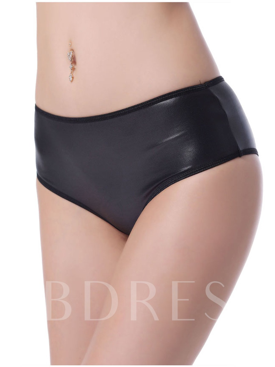 Plus Size Black Panty with Golden Chain Back