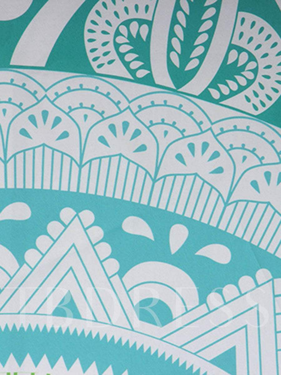Fresh Geometric Print Beach Throw