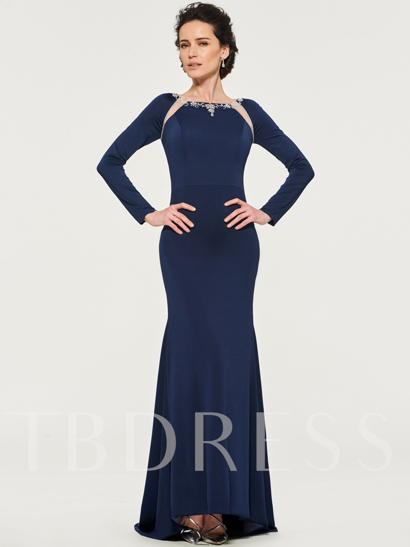 Beading Mother of the Bride Dress with Long Sleeve