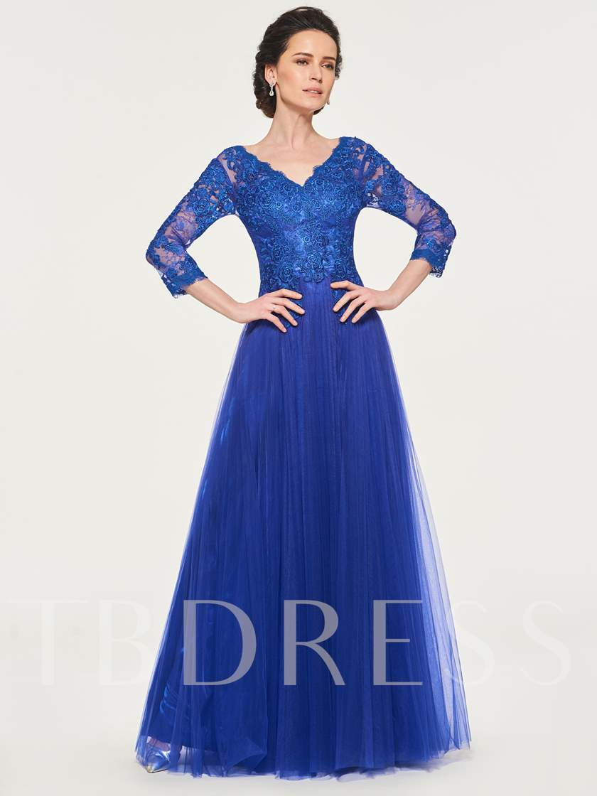 Appliques Lace Mother of the Bride Dress with Sleeves