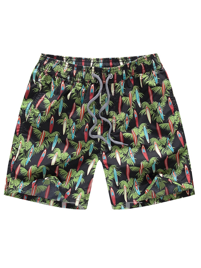 Floral Print Loose Leisure Men's Swim Shorts