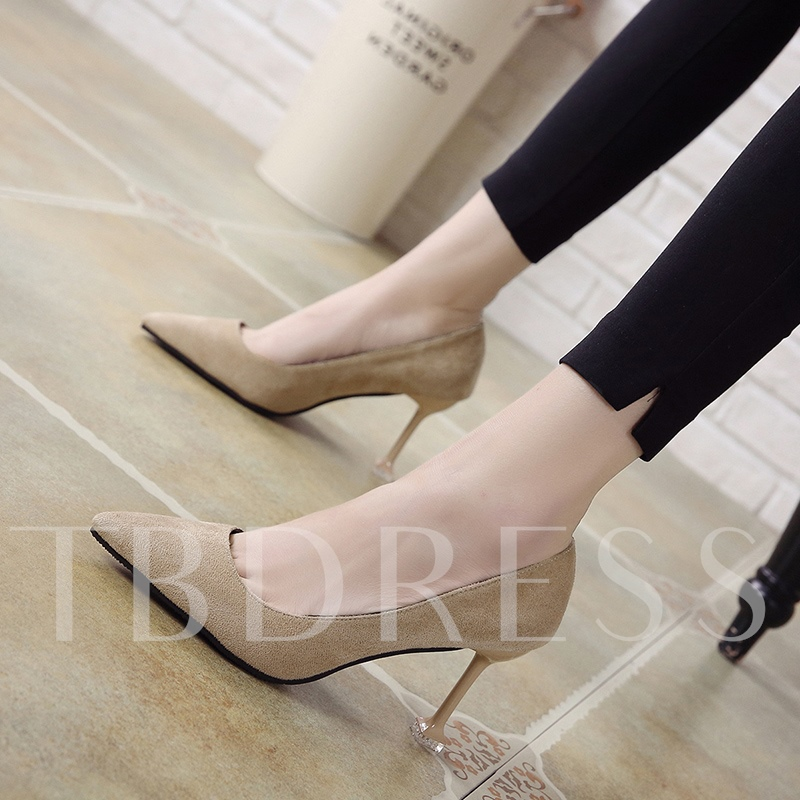 Pointed Toe Suede Women's Basic High Heels