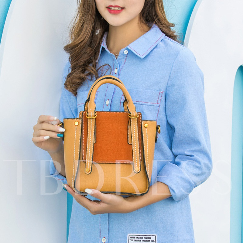 Korean Style Concise PU Women Tote Bag