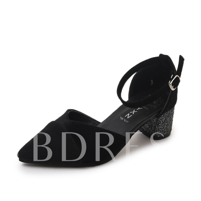 Buy Suede Pointed Toe Chunky Heel Women's Pumps, Spring,Summer,Fall, 13163578 for $25.99 in TBDress store