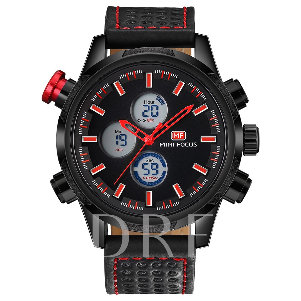 LED Display Buckle Strap Men's Watches