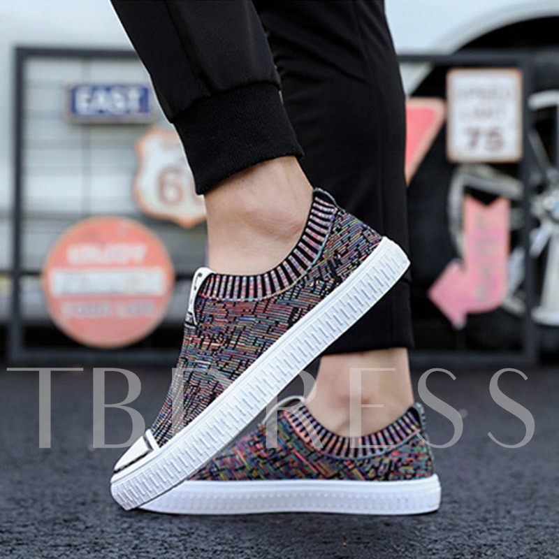 Colorful Mesh Slip On Men's Driving Shoes Casual Sneaker