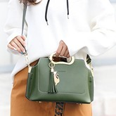 Korean Style Plain Women Satchel