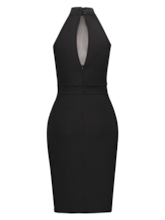 Black Turtle Neck Women's Party Dress