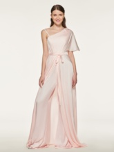 Irregular Neckline Appliques Bridesmaid Jumpsuits